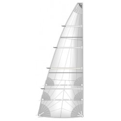 radial cut full batten main sail