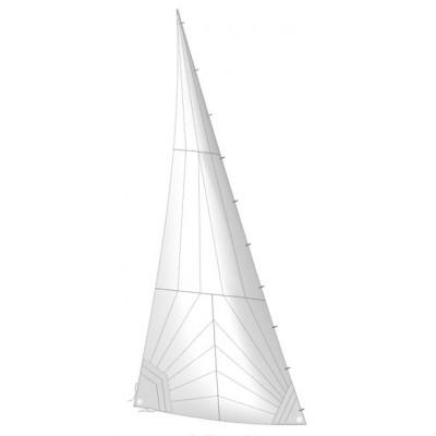 Стаксель с карабинами Трирадиальный раскрой