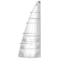 grand voile à coupe radiale semi lattée