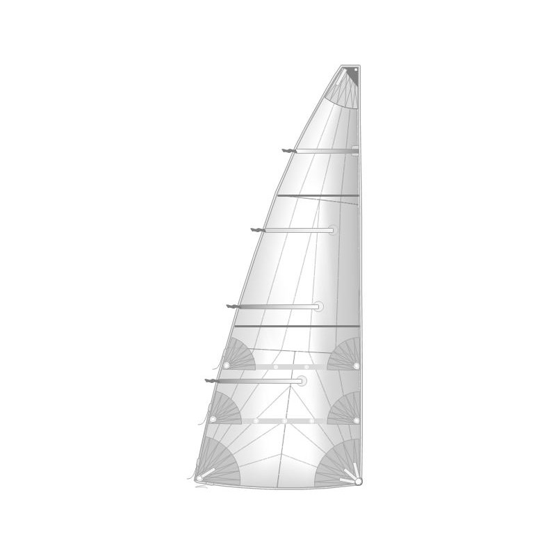 Semi Full Batten Mainsail Radial Cut